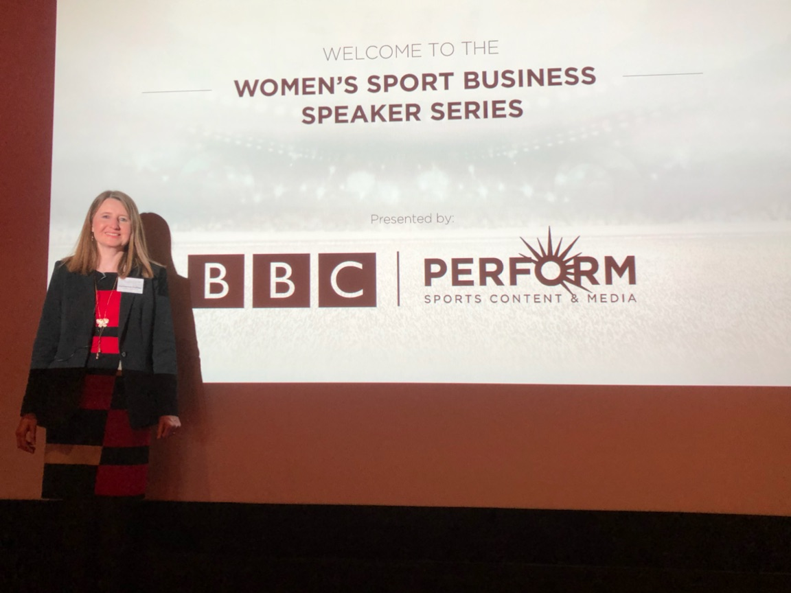 Catherine at Women's Sport Business Speaker Series